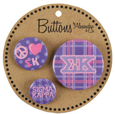 Sigma Kappa Sorority Buttons - Alexandra Co. a1055