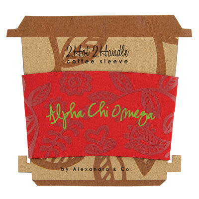 Alpha Chi Omega Coffee Cup Sleeve - Alexandra Co. a1067