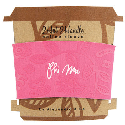 Phi Mu Coffee Cup Sleeve - Alexandra Co. a1067