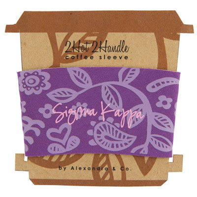 Sigma Kappa Coffee Cup Sleeve - Alexandra Co. a1067