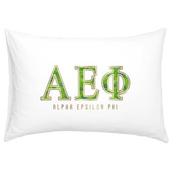 Alpha Epsilon Phi Floral Cotton Pillowcase - Alexandra Co. a3016
