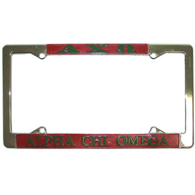 Alpha Chi Omega License Plate Frame - Rah Rah Co. rrc