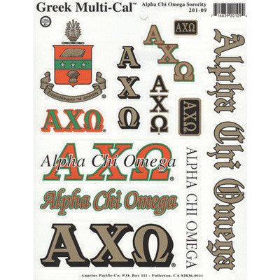 Alpha Chi Omega Multi-Cal Stickers