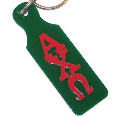 Alpha Chi Omega Mirror Paddle Keychain - Craftique cqMPK