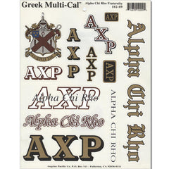 Alpha Chi Rho Multi-Cal Sticker