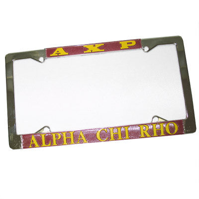 Alpha Chi Rho License Plate Frame - Rah Rah Co. rrc