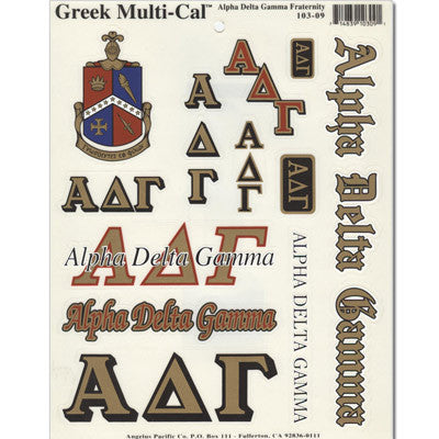 Alpha Delta Gamma Multi-Cal Sticker