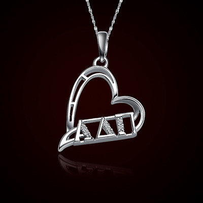 Alpha Delta Pi Sorority Heart Charm - GSTC-HeartCharm