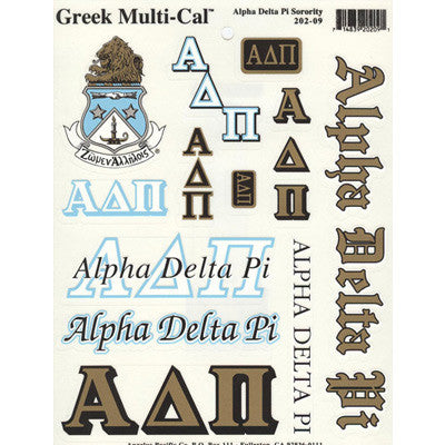 Alpha Delta Pi Multi-Cal Stickers