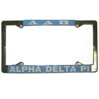 Alpha Delta Pi License Plate Frame - Rah Rah Co. rrc