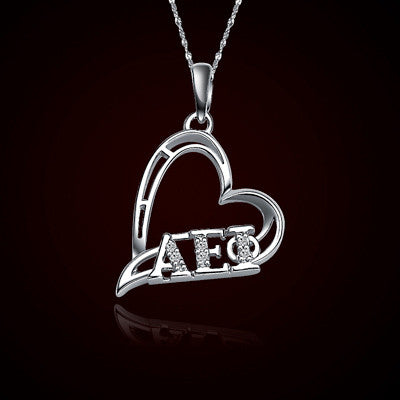 Alpha Epsilon Phi Sorority Heart Charm - GSTC-HeartCharm