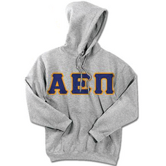 Alpha Epsilon Pi Standards Hooded Sweatshirt - $25.99 Gildan 18500 - TWILL