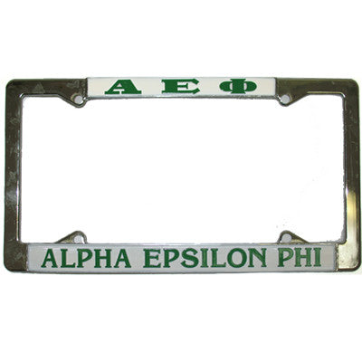 Alpha Epsilon Phi License Plate Frame - Rah Rah Co. rrc