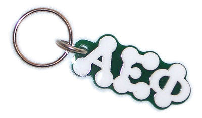 Alpha Epsilon Phi Bubble Letter Keychain - Craftique cqBKC