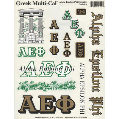 Alpha Epsilon Phi Multi-Cal Stickers