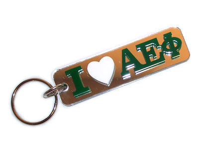 Alpha Epsilon Phi I Love Keychain - Craftique cqMHK