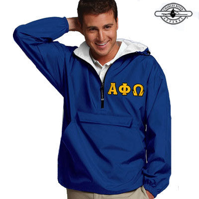 Alpha Phi Omega Pullover Jacket - Charles River 9905 - TWILL