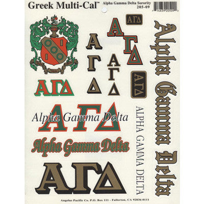 Alpha Gamma Delta Multi-Cal Stickers
