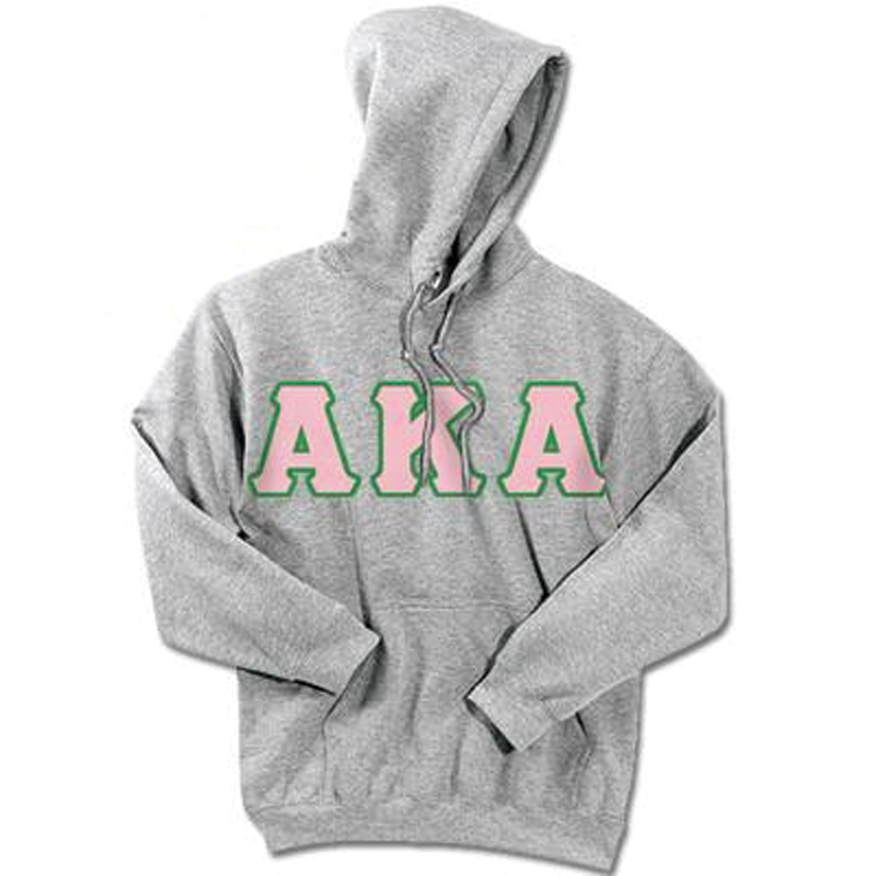 Alpha Kappa Alpha Standards Hooded Sweatshirt - $25.99 Gildan 18500 - TWILL