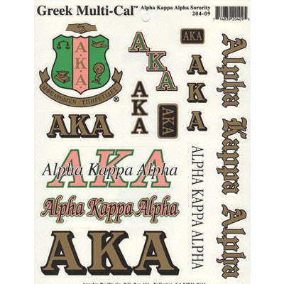 Alpha Kappa Alpha Multi-Cal Stickers