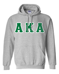 Alpha Kappa Alpha Hooded Sweatshirt - Gildan 18500 - TWILL