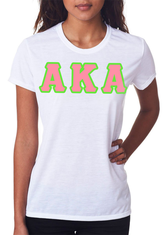 Alpha Kappa Alpha Ladies T-Shirt - Gildan 2000L - TWILL