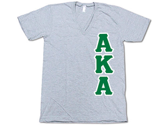 Alpha Kappa Alpha V-Neck - Vertical - American Apparel 2456W - TWILL