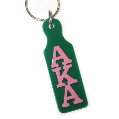 Alpha Kappa Alpha Mirror Paddle Keychain - Craftique cqMPK
