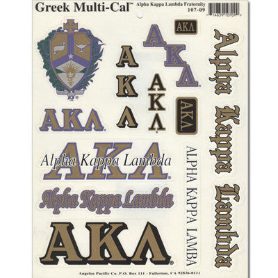 Alpha Kappa Lambda Multi-Cal Sticker