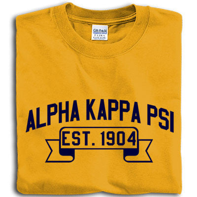 Alpha Kappa Psi Vintage Football Printed T-Shirt - Gildan 5000 - CAD