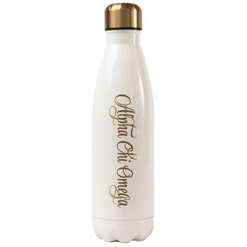 Alpha Chi Omega Stainless Steel Shimmer Water Bottle - a3001