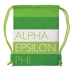 Alpha Epsilon Phi Drawstring Backpack - a1009
