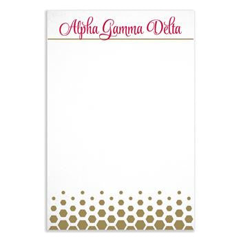Alpha Gamma Delta Gold Notepad - a3009
