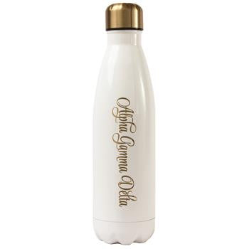 Alpha Gamma Delta Stainless Steel Shimmer Water Bottle - a3001