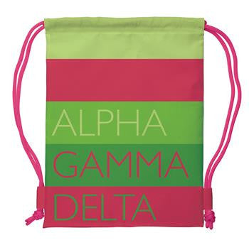 Alpha Gamma Delta Drawstring Backpack - a1009