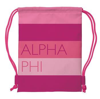 Alpha Phi Drawstring Backpack - a1009
