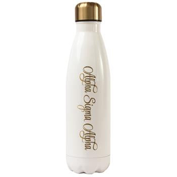 Alpha Sigma Alpha Stainless Steel Shimmer Water Bottle - a3001