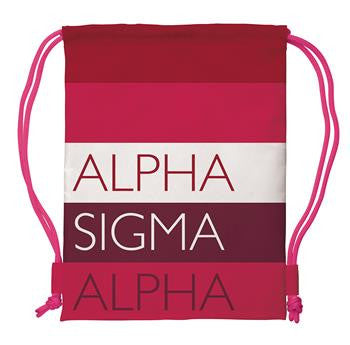Alpha Sigma Alpha Drawstring Backpack - a1009