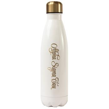 Alpha Sigma Tau Stainless Steel Shimmer Water Bottle - a3001