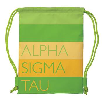 Alpha Sigma Tau Drawstring Backpack - a1009