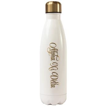 Alpha Xi Delta Stainless Steel Shimmer Water Bottle - a3001