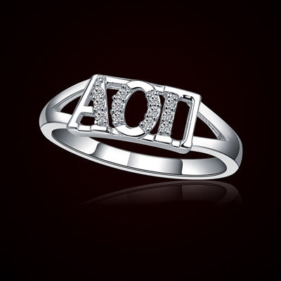 Alpha Omicron Pi Sorority Ring - GSTC-R001