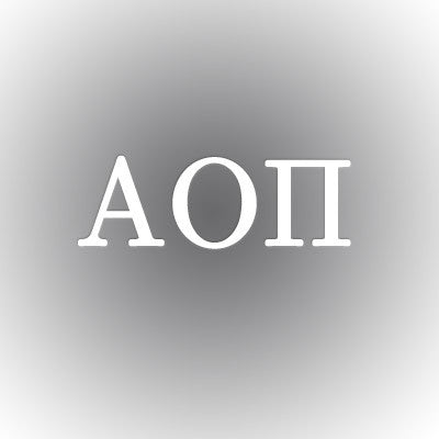 Alpha Omicron Pi Car Window Sticker - compucal - CAD