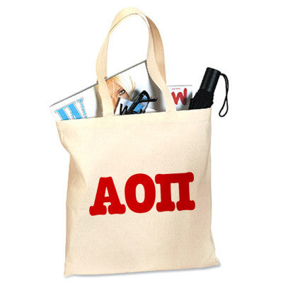 Alpha Omicron Pi Printed Budget Tote - Letter - 825 - CAD