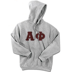 Alpha Phi Standards Hooded Sweatshirt - $25.99 Gildan 18500 - TWILL