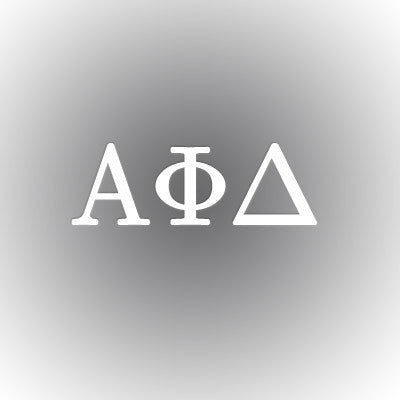 Alpha Phi Delta Car Window Sticker - compucal - CAD
