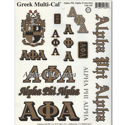 Alpha Phi Alpha Multi-Cal Sticker