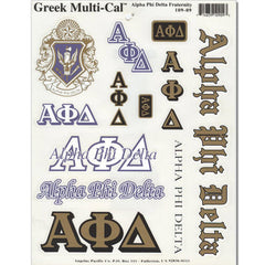 Alpha Phi Delta Multi-Cal Sticker