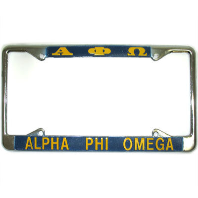 Alpha Phi Omega License Plate Frame - Rah Rah Co. rrc