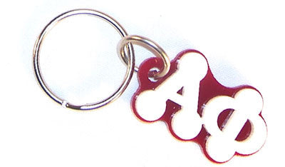 Alpha Phi Bubble Letter Keychain - Craftique cqBKC